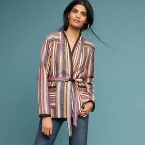 Anthropologie Mansoura Striped Jacket. NWOT!